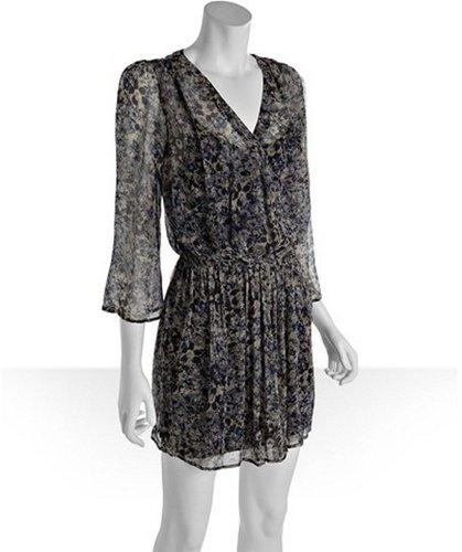 Joie smokey grey floral print silk 'Juno' dress