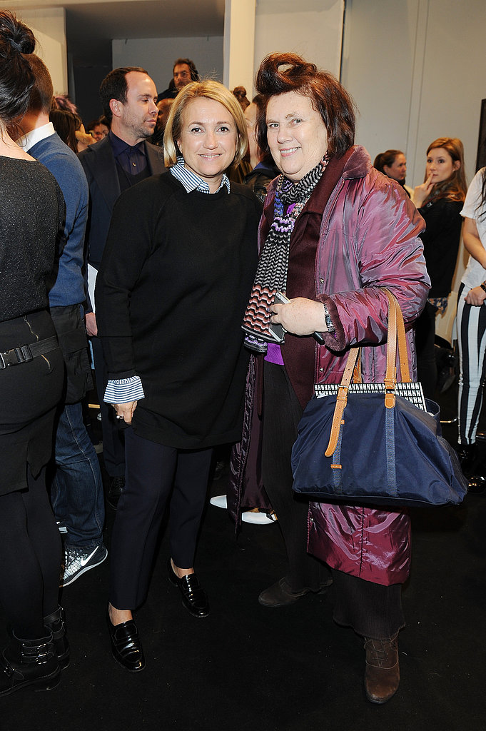 Silvia Venturini Fendi and Suzy Menkes