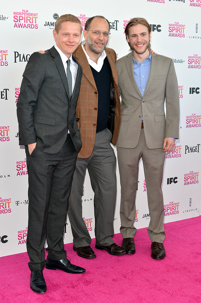 Thure Lindhardt, Ira Sachs, and Zachary Booth on the red carpet at the Spirit Awards 2013.