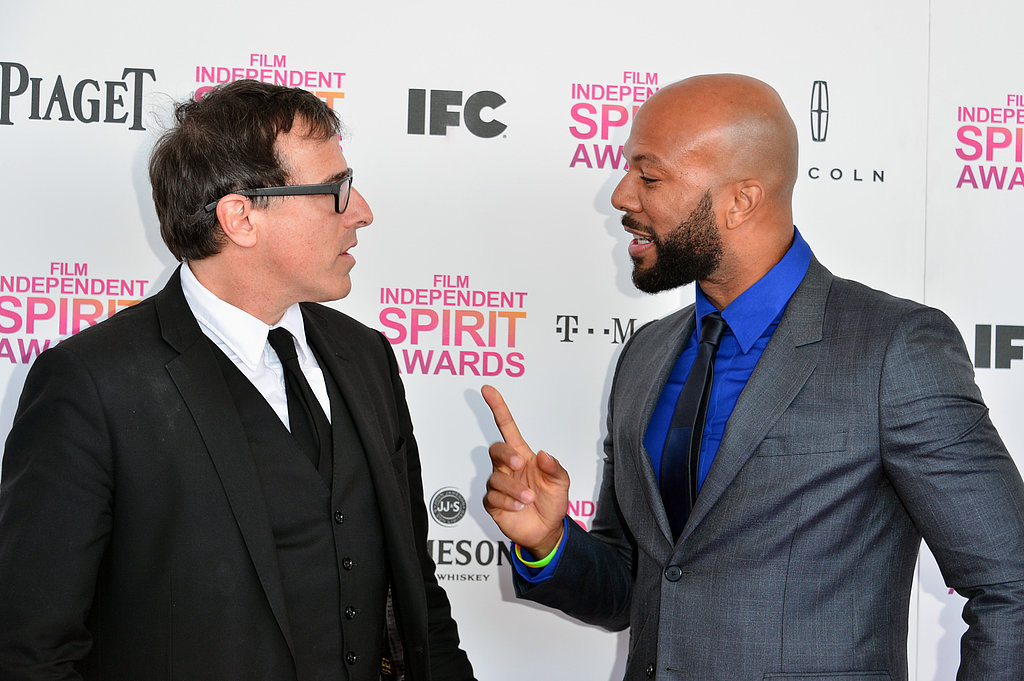 David O. Russell and Common on the red carpet at the Spirit Awards 2013.