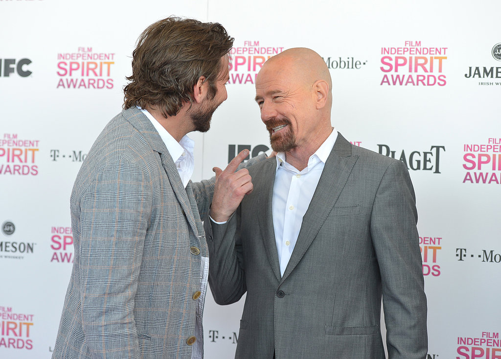 Bradley Cooper and Bryan Cranston laughed.