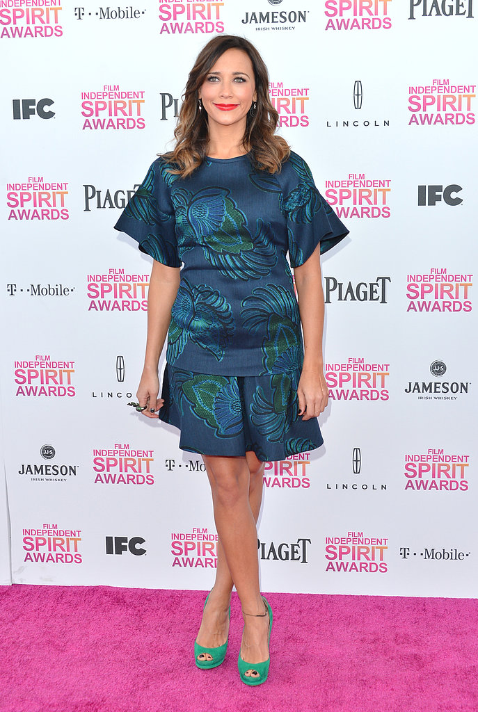 Rashida Jones on the red carpet at the Spirit Awards 2013.
