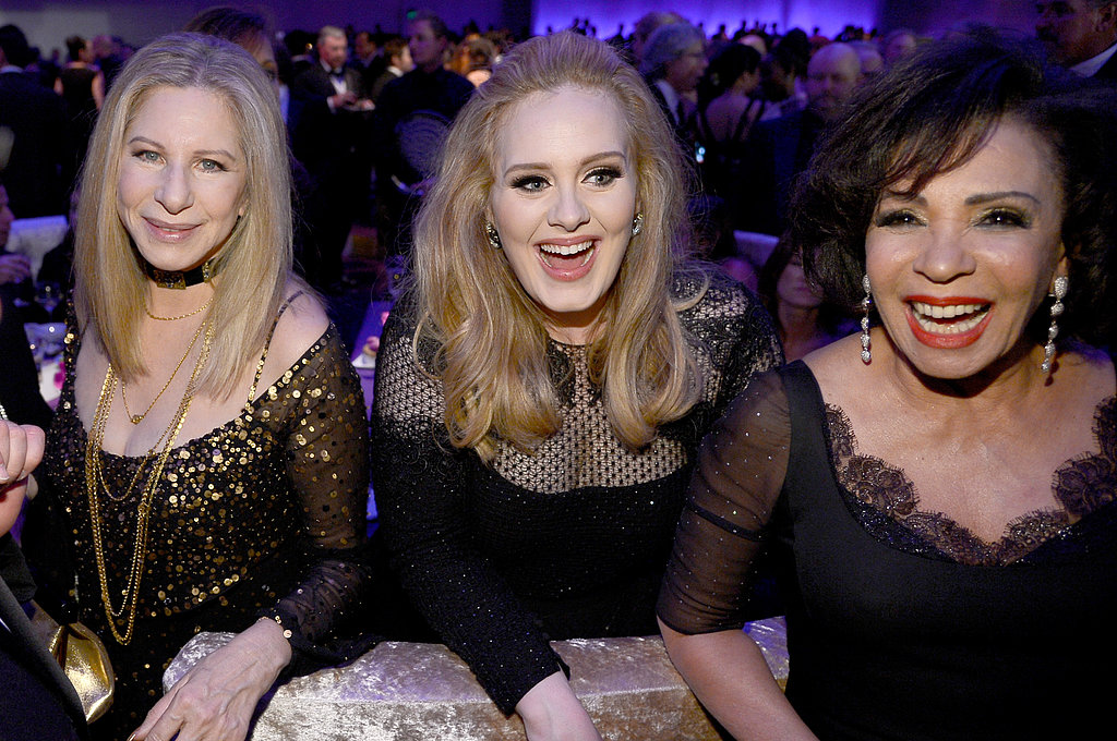 Adele, Barbra Streisand, and Shirley Bassey hung out at the Governors Ball.