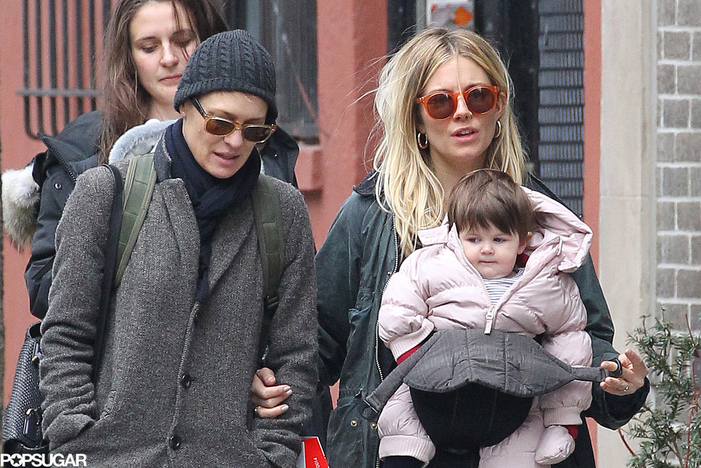 Sienna Miller and pal Robin Wright went shopping with Marlowe Sturridge in NYC.