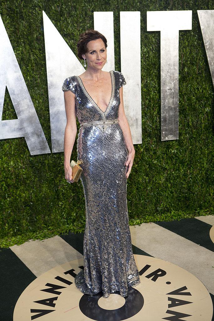 Minnie Driver arrived at the Vanity Fair Oscar party.