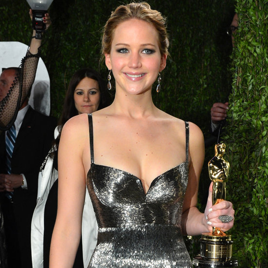 Jennifer Lawrence Wears Calvin Klein to the Oscars Party