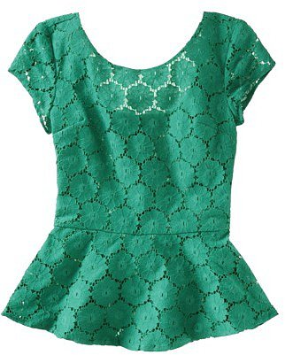 Xhilaration® Juniors Peplum Lace Top - Assorted Colors