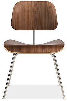 Eames® Molded Plywood Dining Chair with Metal Legs