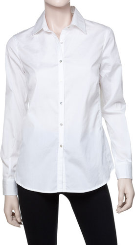 Fitted Collared Button Down Shirt