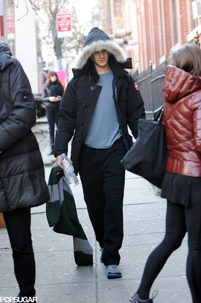 Andrew Garfield headed to the set in NYC.