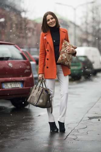 Two bags were better than one in this look, especially when one was a Céline and the other was covered in a gorgeous print. Source: Le 21ème   Adam Katz Sinding
