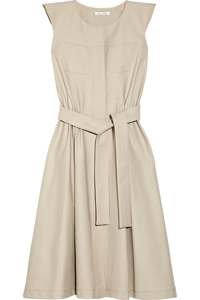 Oscar de la Renta for The Outnet stretch cotton canvas dress