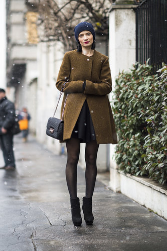 Minimalist cuts and a cool-girl beanie came together effortlessly in this look. Source: Le 21ème   Adam Katz Sinding