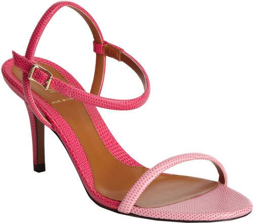 Fendi Stamped Two-Tone Sandal