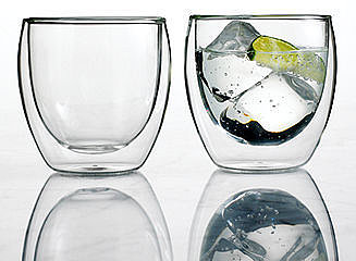 Bodum Pavina Wall Glasses, 8.5 Oz. Set of 2