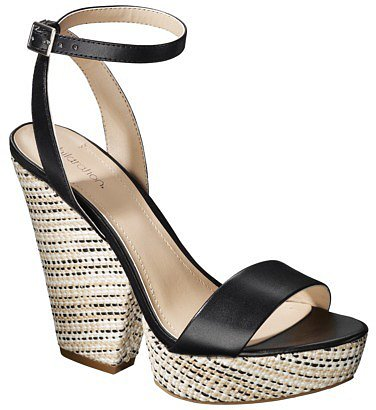 Women's Xhilaration® Tammy Plank Wedge Sandal - Black