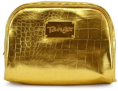 Tango Gold Crocodile Scoop Travel Pouch