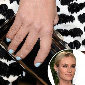 Diane Kruger's Baby Blue Nail Polish at Vanity Fair Party