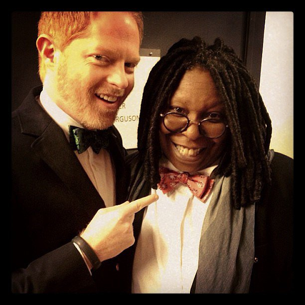 Jesse Tyler Ferguson and Whoopi Goldberg were clad in matching bow ties from Bow Tie the Knot. Source: Instagram user jessetyler