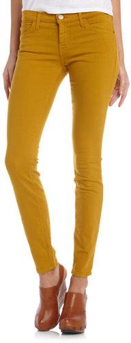 Current/Elliott Skinny Ankle Jeans, Mustard