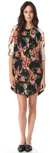 10 crosby derek lam Floral Tunic Dress