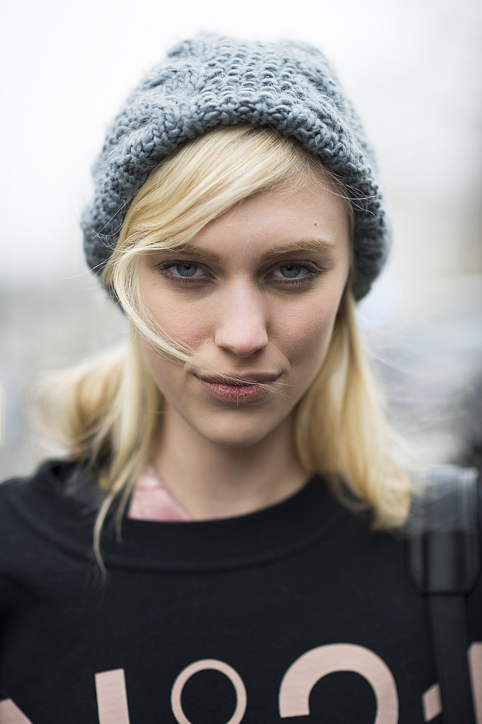 Smudging a touch of gray eye shadow under your eyes, like model Juliana Schurig did here, is a great daytime look that has just the right amount of bold.  Source: Le 21ème   Adam Katz Sinding