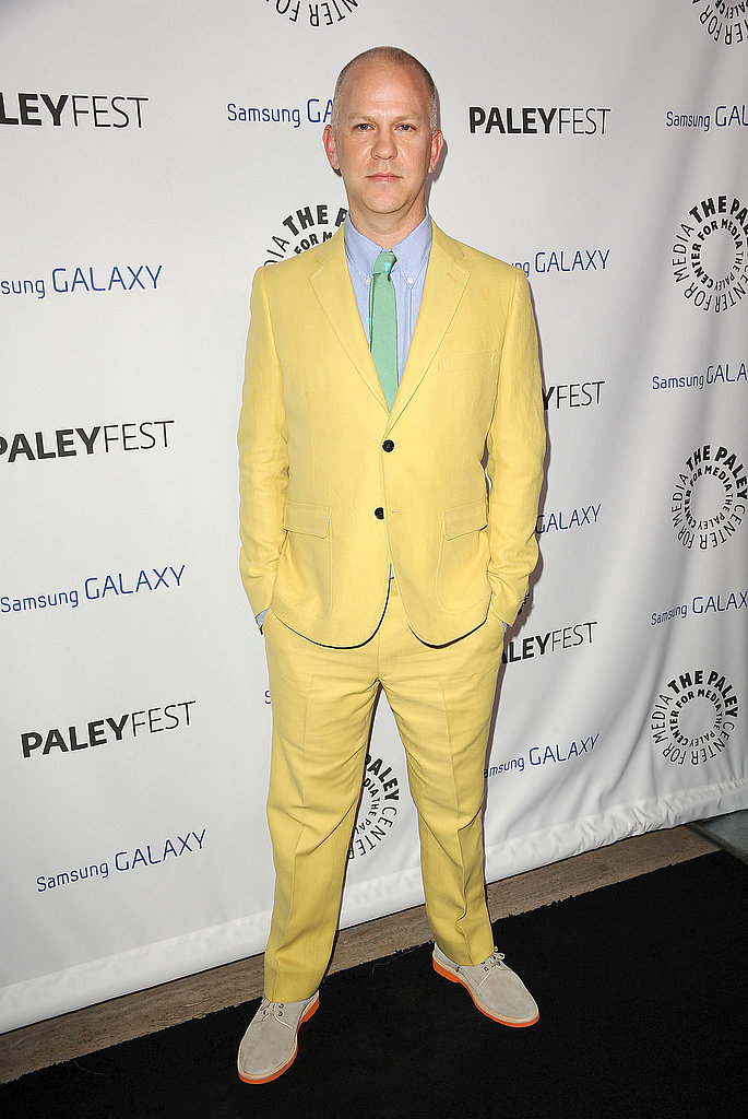 Ryan Murphy wore a yellow suit.