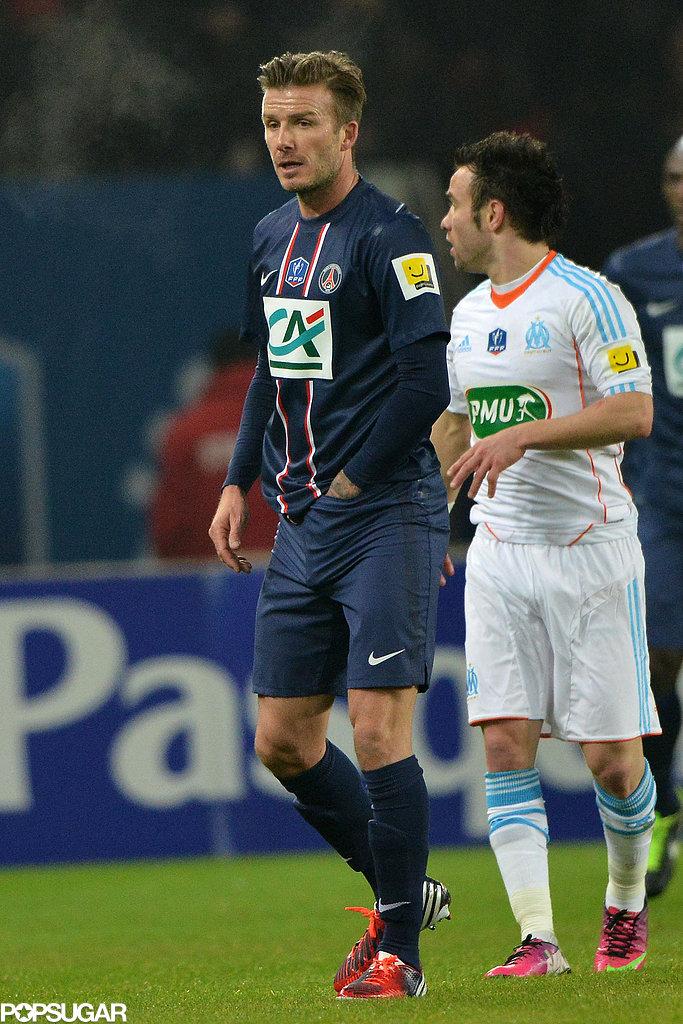 David Beckham had his first start for his new team Saint-Germain in Paris.