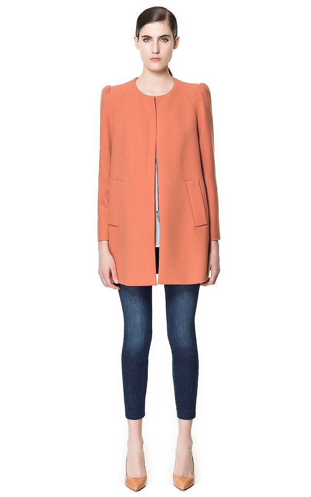 Add a polished touch to your Spring look with this ladylike Zara coat ($159).