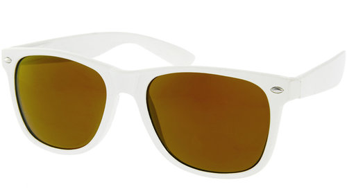 ASOS White Wayfarer with Gold Mirror Lens