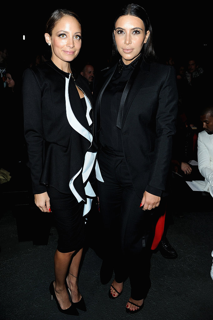 Kim Kardashian posed for photos with Nicole Richie at the Givenchy show during Paris Fashion Week in March.