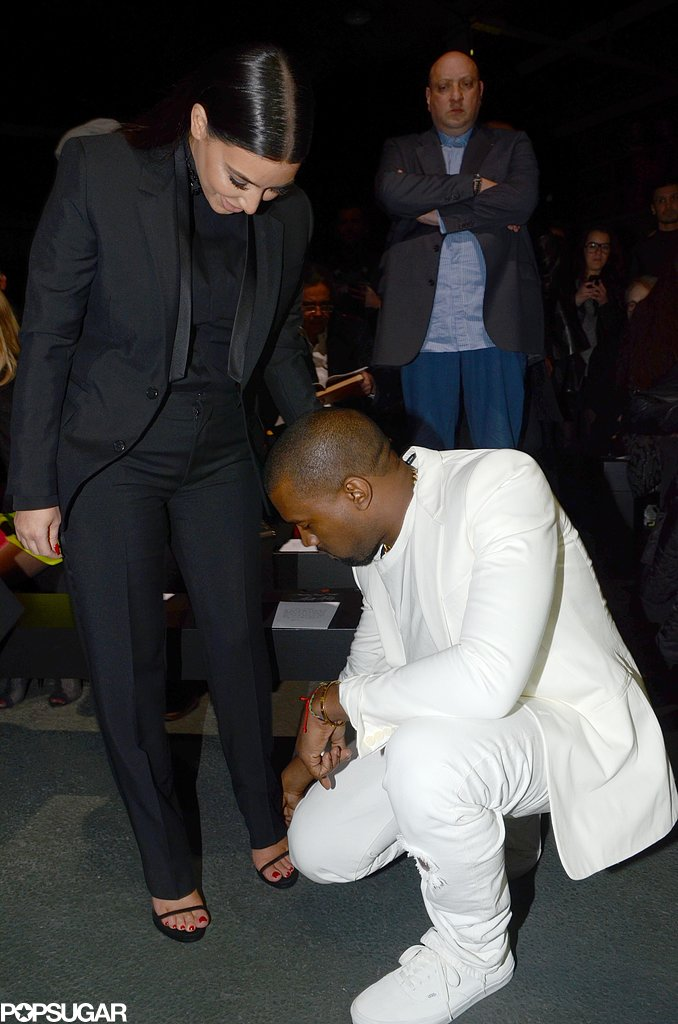 Kim and Kanye Pair Up in Paris For Fashion Week