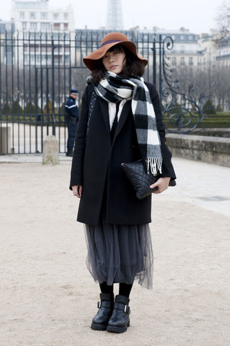 Heavy layers got a boho twist with a well-placed floppy hat.