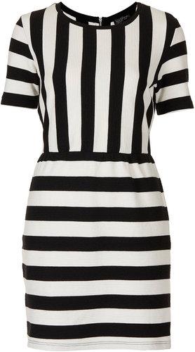 Texture Stripe Shift Dress