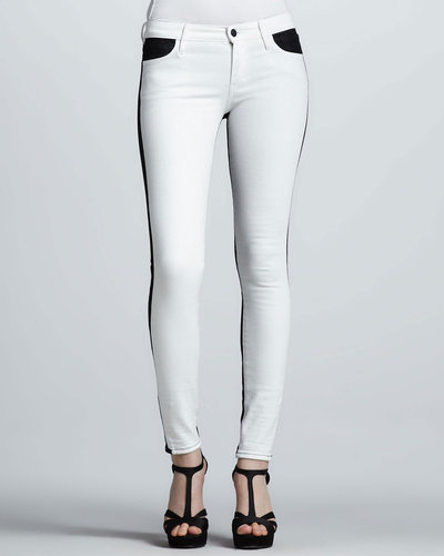 Koral Two-Tone Colorblock Skinny Jeans