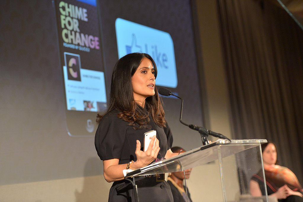 Salma Hayek Officially Launches Her and Beyoncé's Chime For Change