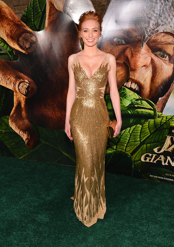 Eleanor Tomlinson gave us a reason to keep tabs on her red-carpet style with this high-wattage gown at the premiere of Jack the Giant Slayer.