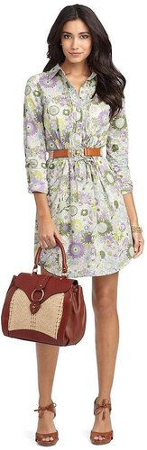 Bib Front Flower Dress