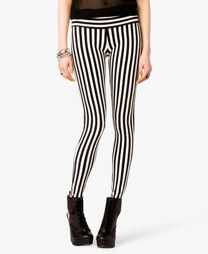 FOREVER 21 Vertical Striped Leggings