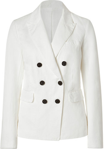 Closed White Cotton Linen Blend Dandy Blazer