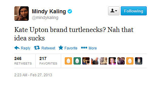 Mindy Kaling knows this business idea doesn't make the best use of Kate's assets.
