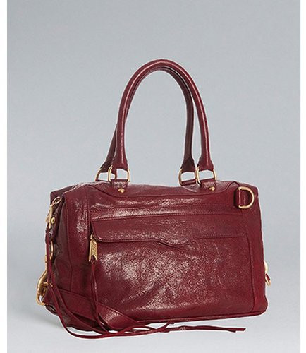 Rebecca Minkoff blood red leather 'MAB Mini' convertible satchel