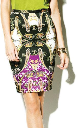 Ornate Paisley Pencil Skirt