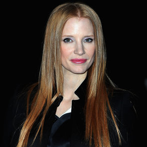 Jessica Chastain at Givenchy With Straight Hair