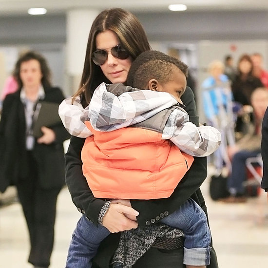Sandra Bullock and Louis Arriving in New York | Pictures
