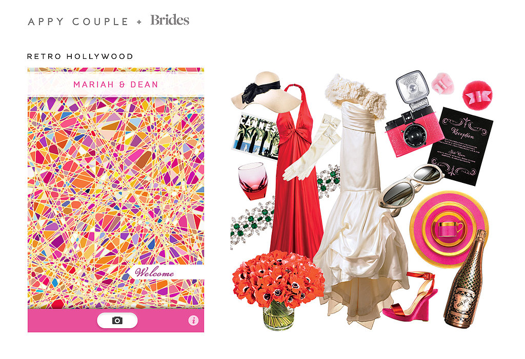 The Cannes Film Festival meets Retro Hollywood ($29) in this red, pink, and orange-themed design. Source: Appy Couple