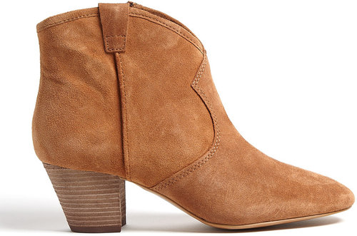 Ash Camel Spiral Suede Ankle Boots