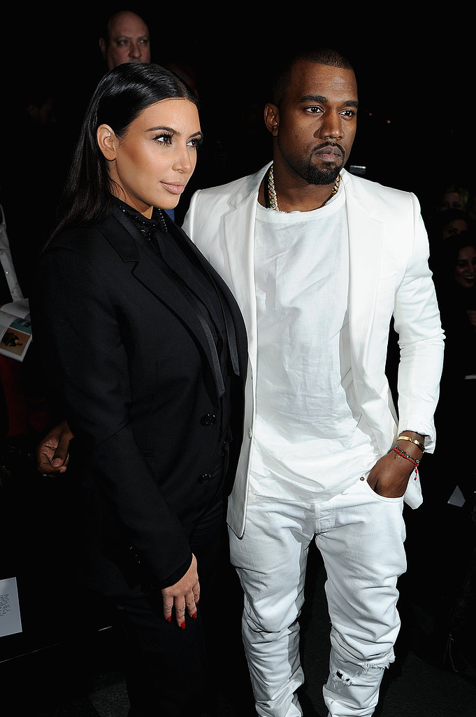 Kim Kardashian and Kanye West had front row seats at Givenchy on Sunday.