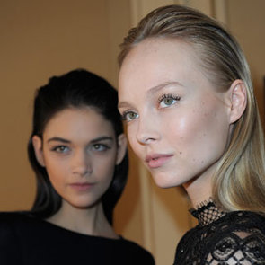 Backstage at Collette Dinnigan Paris Fashion Week