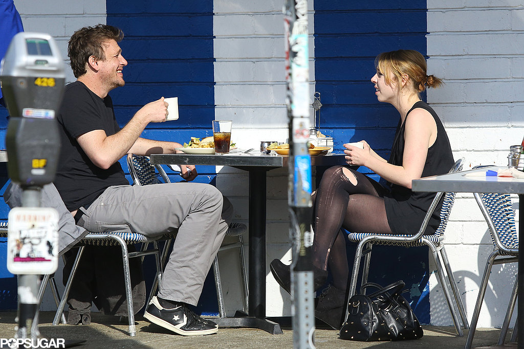 Jason Segel had lunch with a friend in LA on Monday.